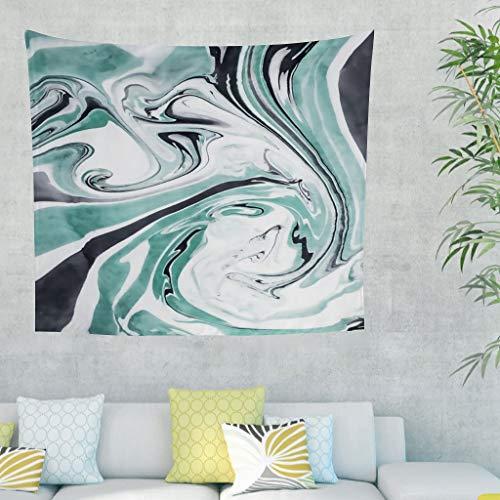 LIFOOST Tapiz con textura de mármol, hippie, manta de pícnic para dormitorio, color blanco, 100 x 150 cm