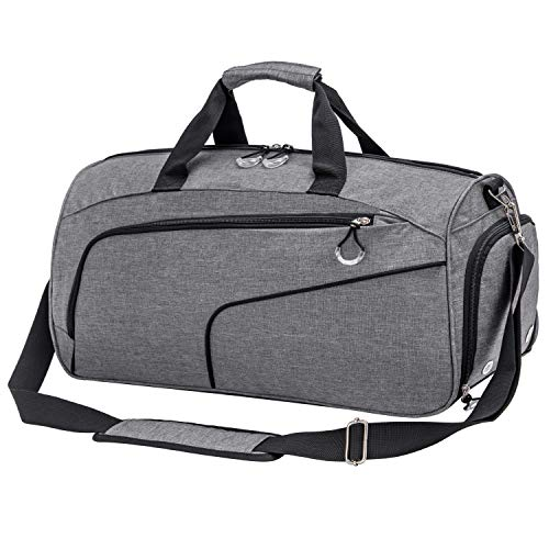 Kuston Sports Gym Bag with Shoes Compartment &Wet Pocket Gym Duffel Bag Overnight Bag for...