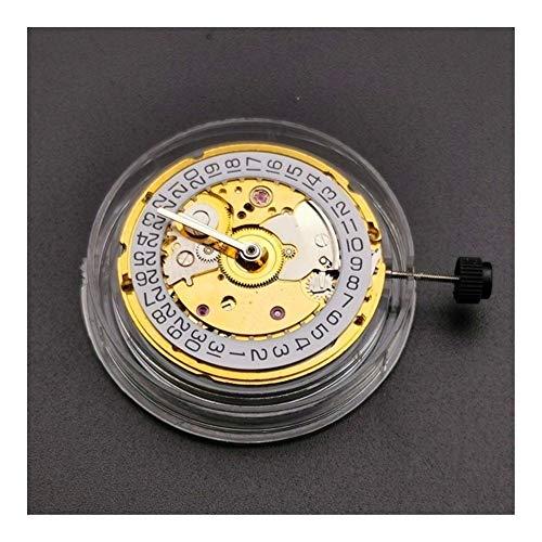 SSGLOVELIN For ETA 2824-2 Sellita SW200 Blanca 3H Reloj mecánico del Movimiento del Reloj (Color : Gold)