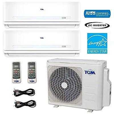 TGM Dual Zone MMCUT18AS2 18,000 BTU Heat Pump Mini-Split System