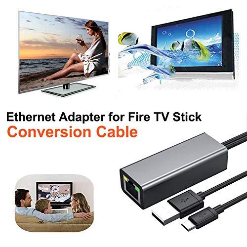 juman634 Adaptador Ethernet para Fire TV y Fire TV Stick Micro 100M Cable de conversión 1M