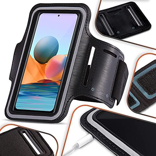 NAmobile Funda Compatible con Xiaomi Redmi Note 10 Pro Teléfono Móvil Running, Brazalete Deportivo Running Case Case Negro