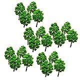 chiwanji Lot de 50 modèles d'arbre en plastique pour le chemin de fer, mise en page routière, paysage décoratif.
