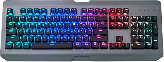 Mechanical Gaming Keyboard| Marvel X Siberian Lynx-Gateron Brown Switches, 100% Anti-Ghosting, RGB Backlit, Led Programmable-Aluminum Alloy, Waterproof-Teclado Gamer
