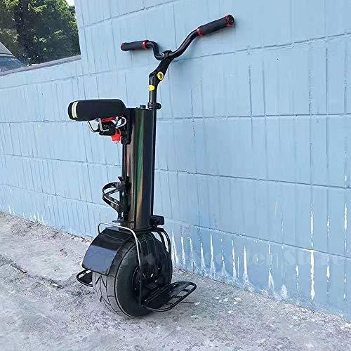 Moto a Ruota Singola Elettrico Monociclo Scooter Elettrico 500W Una Ruota Auto Bilanciamento Scooter 60V Portatile Smart Elettrica Monociclo Scooter con Sella E Manubrio 2020 (Size : 30KM)