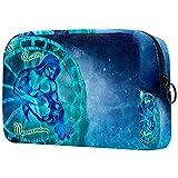 Neceser de viaje, bolsa de viaje impermeable, bolsa de aseo para mujeres y niñas Acuario 18,5 x 7,6 x 13 cm
