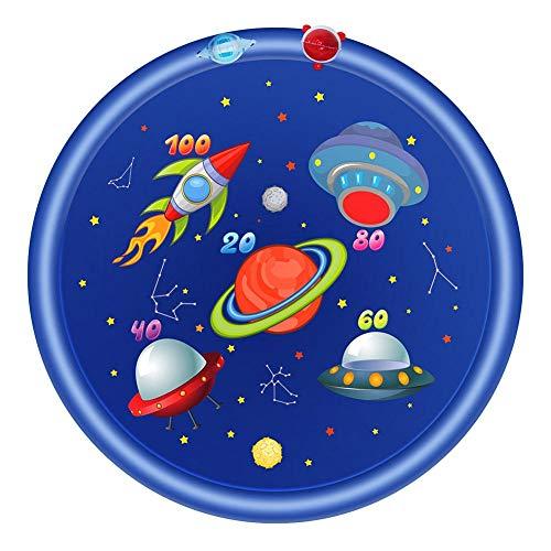 chlius Splash Pad, rociador de 170 cm para niños, tapete inflable al aire libre, juguetes de juego acuático, piscina para niños de más de 3 años