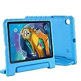 Funda Protectora para Samsung Galaxy Tab S6 Lite (SM-P610 / SM-P615) de 10,4 Pulgadas, Funda Protectora Ligera para Tableta EVA portátil a Prueba de Golpes con Soporte Incorporado(Azul)