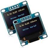 2 Piezas Módulos de Pantalla de 0,96 Pulgadas 12864 128x64 SSD1306 Controlador IIC I2C Se...