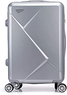WHPSTZ Trolley Suitcase Student Password Suitcase Reinforcement Aluminum Frame Small Fresh Universal Wheel Unisex Boarding Trolley case (Color : Silver, Size : 26 inches)