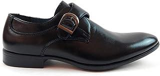 Zapatos Monk Strap Hombre con Punta Elegante para Traje con Hebilla