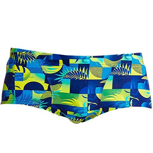 Funky Trunks Herren Badehose Schwimmhose Swimshorts Classic Trunks Magnum Pi, Wäschegröße:XL