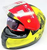 LS2 Helmets - FF320 – Stream – Garage Matt Yellow Black Dual Visor