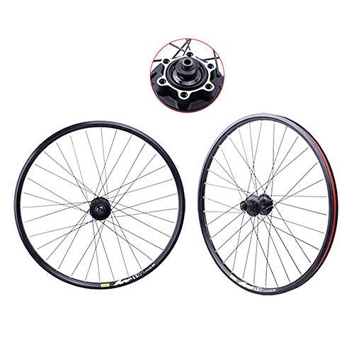 Juego ruedas Conjunto bicicleta montaña MTB doble pared Aleación aluminio Cubo rueda libre Freno disco llanta Liberación rápida delantera rueda y trasera para rueda libre velocidad 7/8/9/10,29'