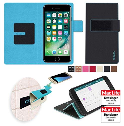 Hülle für Apple iPhone 7 Tasche Cover Hülle Bumper | Schwarz | Testsieger