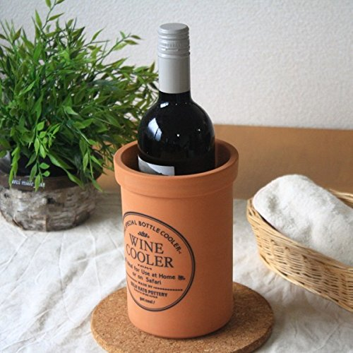 気化熱で保冷のできる陶器製ワインクーラー水に濡らせば簡単に保冷効果