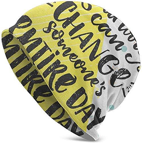 Een soort woord kan veranderen iemand Gehele dag Mode Chemo Caps Kanker Hoofddeksels Schedel Cap Gebreide Hoed Sjaal