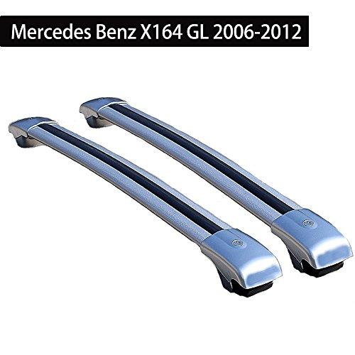 KPGDG Roof Racks Cross Bar Mercedes Benz X164 GL 2006-2012 Baggage Luggage Rail Crossbar