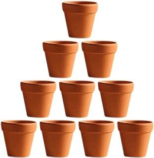 BESTOMZ 10 Pcs Mini Clay Pots 1.6'' Terracotta Pot Clay Ceramic Pottery Planter Cactus Flower Pots Succulent Nursery Pots- Great for Plants,Crafts,Wedding Favor