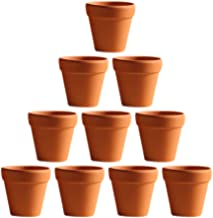 BESTOMZ 10 Pcs Mini Clay Pots 1.6'' Terracotta Pot Clay Ceramic Pottery Planter Cactus Flower Pots Succulent Nursery Pots-...