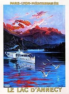 LEotiE SINCE 2004 Plaque en M/étal M/étallique Poster Mural tin Sign Nostalgie du Voyage Ville France Annecy