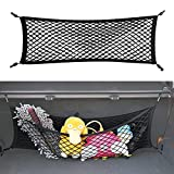 Double-Layer Trunk Cargo Elastic Net for SUV, 35'x11' Stretch to 65'x25' for Car Organizer Heavy Duty with Hooks