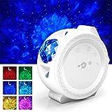 Proyector Estrellas LED, Estrellas Water Wave Moon Lampara Proyector Infantil, 6...