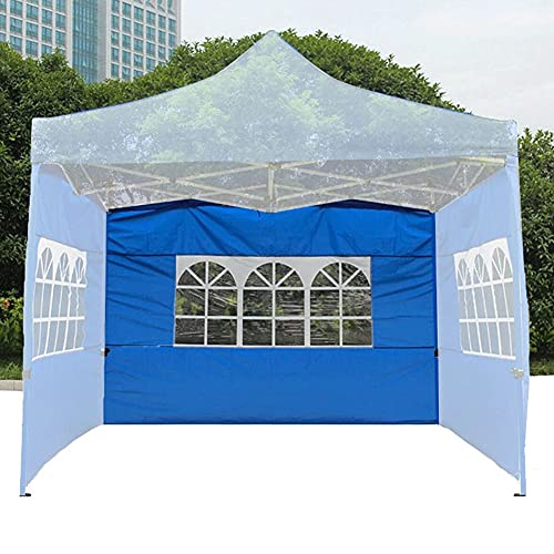 Paredes Parte Laterales para Carpa 3x3m, Paneles Laterales de Repuesto para cenador de jardín, con Ventana, Lado Parasol de Gazebo