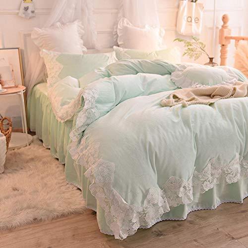 funda de edredón blanco-Invierno de doble cara de terciopelo de cristal grueso calidez sábana de encaje extra grande funda nórdica funda de almohada ropa de cama regalo-F_Cama de 2,0 m (4 piezas)