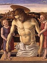 Cristo Morto Apoiado por Dois Anjos 1453 Pintura de Giovanni Bellini na Tela em Vários Tamanhos (51 cm X 38 cm tamanho da imagem)