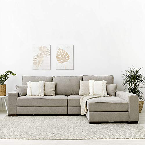 Kenay Home - Block Sofá Longue Modular, 284x85x90 cm (sin Chaise) / 170 cm (con Chaise) (WxHxD)