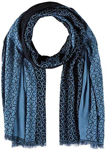 Calvin Klein Herren K50k505180 Schal, Blau (Navy Cef), One Size (Herstellergröße: OS)