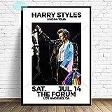 Flduod Harry Styles Poster und Drucke Poster World Tour Live Cover S Leinwand Gemälde Wandkunst Bild für Wohnzimmer Home Decor-50x70 cm Ungerahmt
