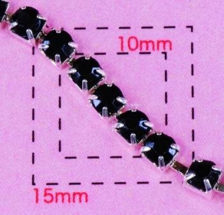 ブラックダイヤレーン3ミリSV《ネイル?デコ電用メタル&プラパーツ》 20cm