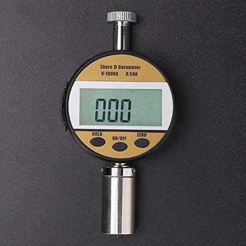 Medidor de durómetro 11.1 oz Probador de dureza de plástico 4.4 * 2.2in para cuero(LXD-D, transparency)