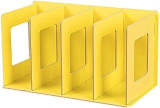 SanQing Rack de CD de Madera Plegable Rack de DVD Rack de Libros Rack de CD Soporte de DVD Estante de Almacenamiento de CD,Yellow