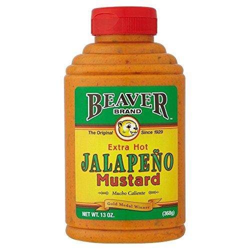 Beaver Jalapeno Senf (368g) - Packung mit 2