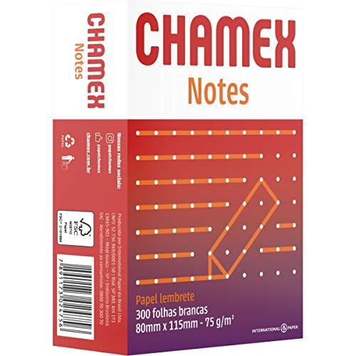 Bloco para Recado, Chamex Notes, 300 Folhas, 75 g, 80x115 mm