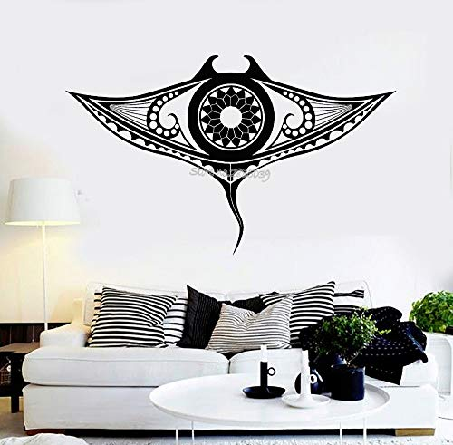 Neues Design Vinyl Wandtattoo Manta Ray Marine Ocean Tier Tribal Home Decor Aufkleber Kunst Sofa Hintergrund Wallpaper Decals 70x42CM