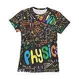 Ahomy Camisetas para mujer Cientific Fórmulas y cálculos O-Neck Pullover Tees Summer Cool Funny Short Sleeve Tops