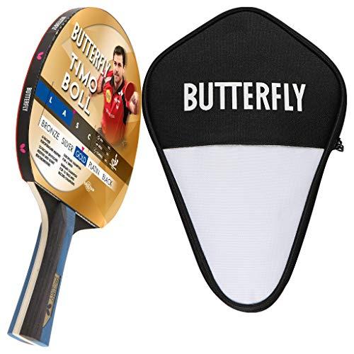 Butterfly Timo Boll Gold Tischtennisschläger + Tischtennishülle | Tischtennisschlägerset | Tischtennis Profi Set