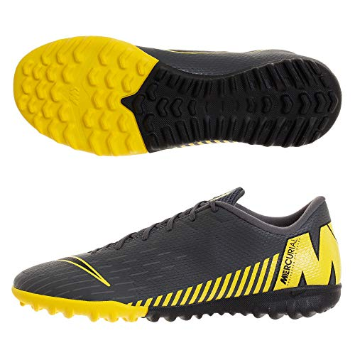 Nike Performance Mercurial Vapor XII Academy TF Fußballschuh Herren dunkelgrau/gelb, 7 US - 40 EU - 6 UK