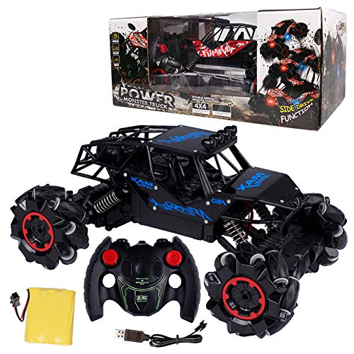 Metermall Games For RC Car 2.4GHz Off-road Remote Control Vehicle Music Light Sound Cool Stunt Drift Climbing Car Toys Children Birthday Gifts Blue