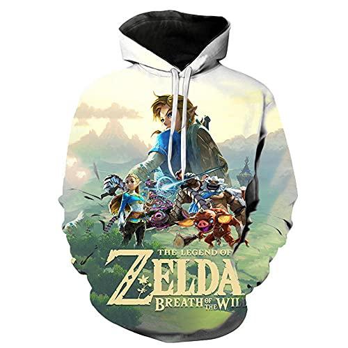 The Legend of Zelda Sudaderas con Capucha para Hombre, Divertidas Sudaderas con Capucha Coloridas en 3D, Jersey de Manga Larga con Bolsillo Hoodies-WY_150