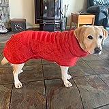 Saugfähiger Hunde-Bademantel, Handtuch, schnell trocknender Mantel und weiche Mikrofaser, schnell trocknender Mantel mit verstellbarem Riemen, Haustierdusche Badezubehör (S, Rot)
