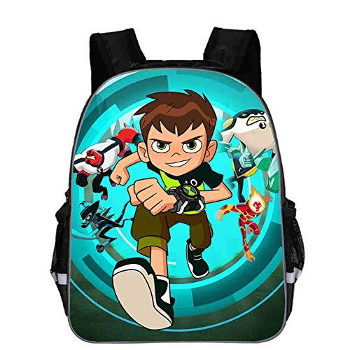 Col-92 Kids Teens Ben 10 Lightweight School Backpack-Waterproof Travel Bag School Book Bag for Children,Students