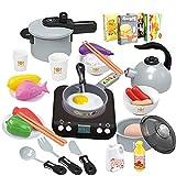 Juguetes de cocina para niños, juego de juguetes de cocina de simulación de juegos de rol, juguetes educativos adecuados para niños, niños pequeños, niñas y niños