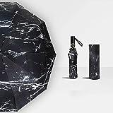 UV Protection Sun Umbrella Rain Men Black Windproof Simple Portable Umbrella Large Rain Umbrellas Luxury Strong Rain Gear - A