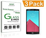 for LG G4 Screen Protector, [3 Pack] RKINC Tempered Glass Screen Protector for LG G4 with [9H Hardness] [Crystal Clear] [Scratch Resist]