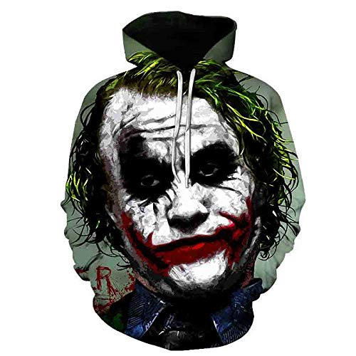 LONGFOFHUI Película De Terror It Chapter Two Sudaderas con Capucha con Estampado 3D Hombres Mujeres Moda Casual Funny Pullover It Clown Print Pattern Hoodies-Yw-1911_XXXL